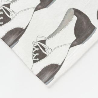 Black White Tap Oxford Dance Shoe Dancer Blanket