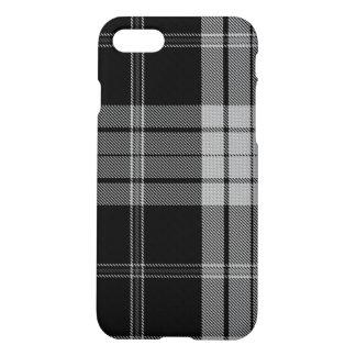 Black White Tartan Plaid iPhone 8/7 Case