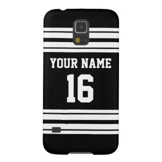 Black White Team Jersey Custom Number Name Galaxy S5 Covers