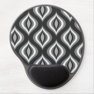 Black & White Teardrops Modern Geometric Pattern Gel Mouse Pad
