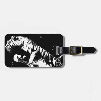 Black & White Tiger Luggage Tag