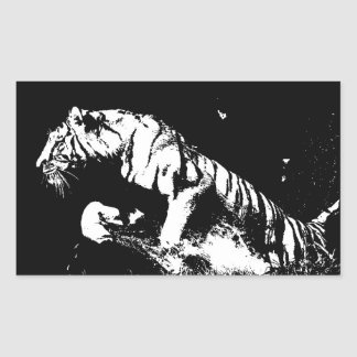 Black & White Tiger Sticker