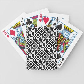 Black & White Tile Bicycle Playing Cards