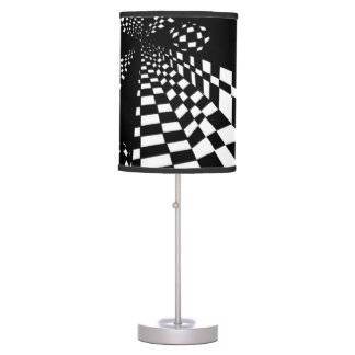 Black & White Tiles Abstract Table Lamps
