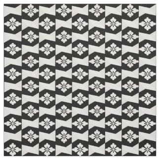Black White Tiles Fabric