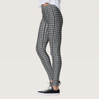 (black & white tiny checkered) leggings