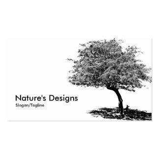 Black & White Tree Business Cards
