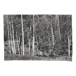 Black & White Treeline Pillow Case Pillowcase
