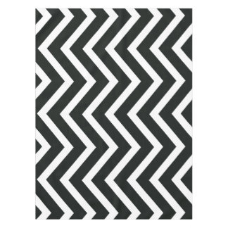 Black white trendy Chevron  tablecloth