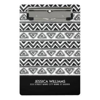 Black & White Tribal Geometric Pattern