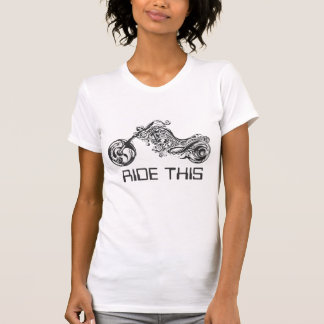 Black & White Tribal Motorcycle -Optional Tex/Name T-Shirt