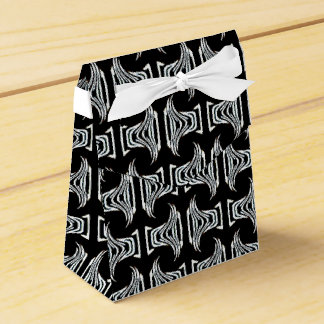 Black White Tribal Pattern Wedding Favor Box