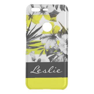 Black White Tropical Flower Abstract Design Uncommon Google Pixel Case