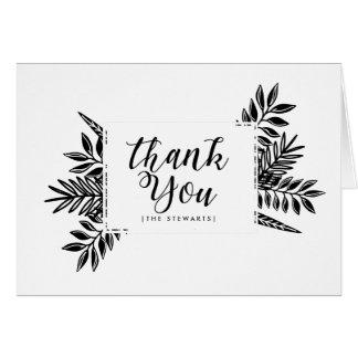 Black & White Tropics   Thank You Card
