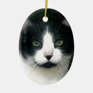Black & White Tuxedo Cat Ornament