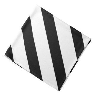 Black White Tuxedo Fat Stripe Lapel Pocket Bandana