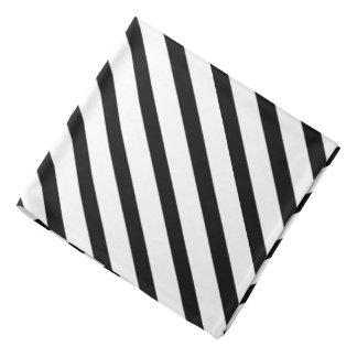Black White Tuxedo Stripe Lapel Pocket Bandana