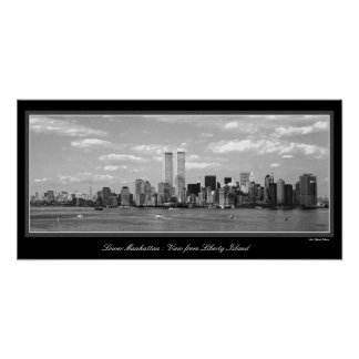 Black & White Twin Towers poster