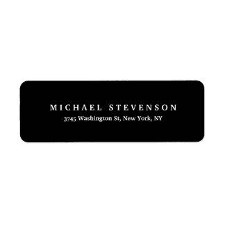 Black White Unique Legible Return Address Label