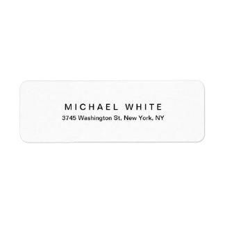 Black White Unique Modern Minimalist Plain