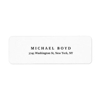 Black White Unique Retro Style Classical Return Address Label