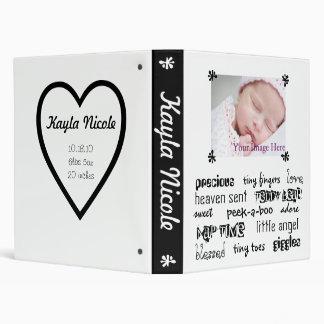 Black & White Unisex Baby Book 3 Ring Binder