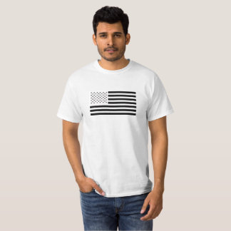 Black & White US Flag T-Shirt