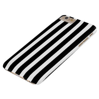 Black White Vertical Stripes Barely There iPhone 6 Plus Case