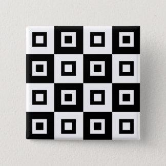 Black & White Vertigo 2 Inch Square Button