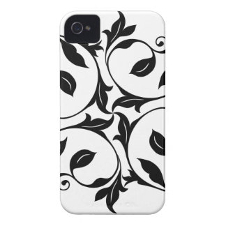 Black/White Vines Barely There iPhone 4 Cover