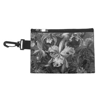 Black&White Vintage Floral Painting Accessories Bags