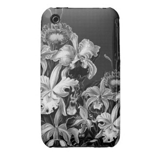 Black&White Vintage Flowers iPhone 3 Cover