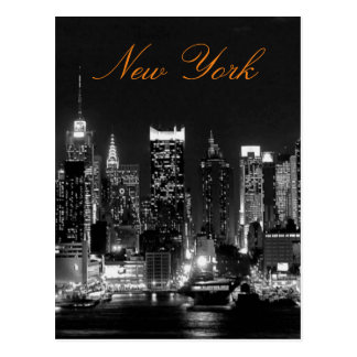 Black White Vintage New York City Travel Photo Postcard