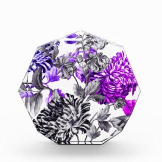 Black & White & Violet Garden Botanical Floral