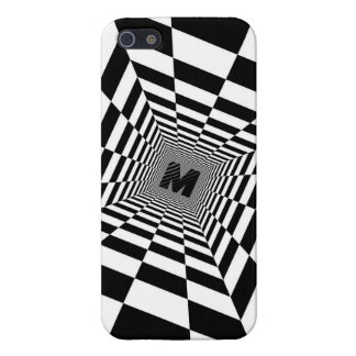Black & White Visual Illusion, Monogram or Initial Case For The iPhone 5