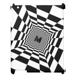 Black & White Visual Illusion, Monogram or Initial Cover For The iPad