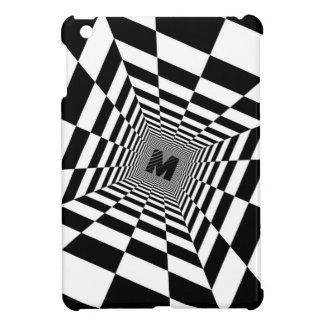 Black & White Visual Illusion, Monogram or Initial Cover For The iPad Mini
