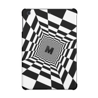Black & White Visual Illusion, Monogram or Initial iPad Mini Covers