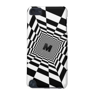 Black & White Visual Illusion, Monogram or Initial iPod Touch 5G Cover