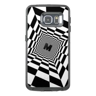 Black & White Visual Illusion, Monogram or Initial OtterBox Samsung Galaxy S6 Edge Case