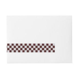 Black & White Wavy Checkered Wrap Around Labels Wraparound Address Label