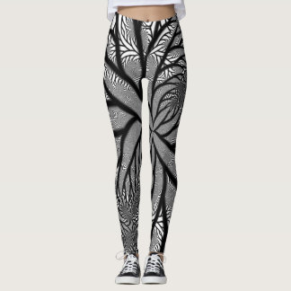 Black & White Webs We Weave Leggings