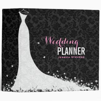 Black & White Wedding Dress & Vintage Lace 3a Binders