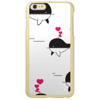 Black & White Whale Design with Hearts