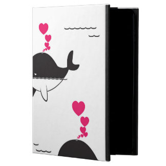 Black & White Whale Design with Hearts Powis iPad Air 2 Case