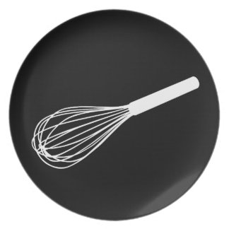 Black & White Whisk Graphic Plate