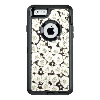 Black White Wildflower Art Print Asian Japan OtterBox Defender iPhone Case