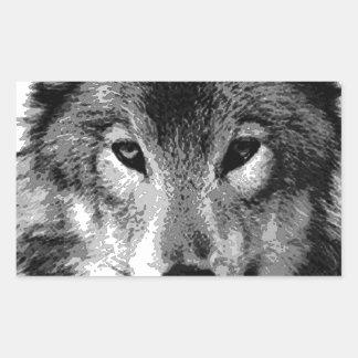 Black & White Wolf Eyes
