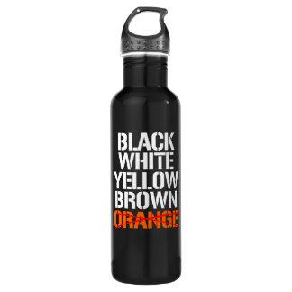 Black White Yellor Brown - No Orange --  white -.p 710 Ml Water Bottle