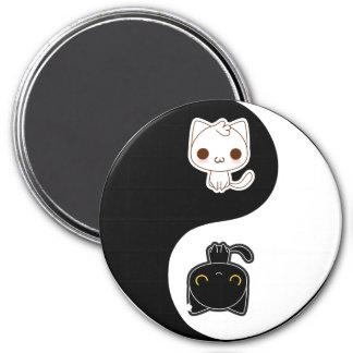 Black & White Yin Yang cats Magnet